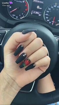 Attractive Acrylic Coffin Nails To Try This Fall;… Attractive Acrylic Coffin Nails To Try This Fall;…,Acrylics Attractive Acrylic Coffin Nails To Try This. Best Acrylic Nails, Acrylic Nail Designs, Matte Nails, Nail Art Designs, Nails Design, Nude Nails, Black Matte Acrylic Nails, Matte Black, Bright Acrylic Nails