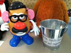 """Check out how my class gets to have """"Fun Friday"""" when we get Mr. Potato head put together!"""