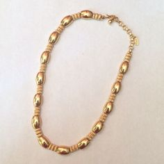 """VTG Rope & Barrel Signed Necklace Elegant. Well made. Vintage. Weighty but not heavy.  Monet signed. 17"""" end to end. Monet Jewelry Necklaces"""