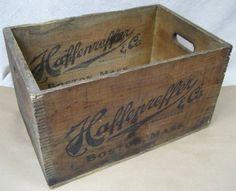 old wood beer crate