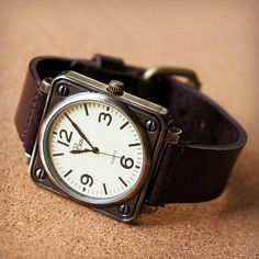 Mens Watch Men Watch Leather Big Face Wrist Watch by TKTIME, $17.50