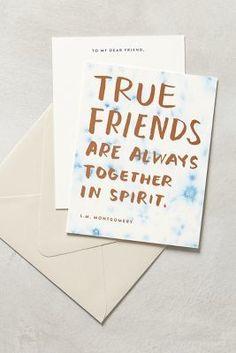 Anthropologie True Friends Card #anthrofave