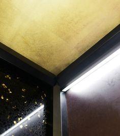 Design lift: golden leaf coating. DomusLift Art - Limited Edition