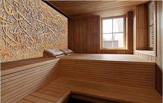 Sauna stone wall Portable Sauna, Finnish Sauna, Steam Sauna, Dry Heat, Sauna Room, Spa Rooms, Steam Room, Jacuzzi, Bad