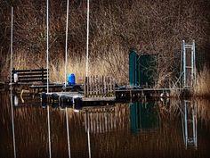 Alte Tretboot-Anlegestelle im Oyter See  #Oyten #oytenistschön #tretboot #oytersee #wasser #Anlegestelle