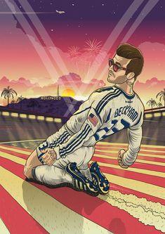 Bleacher Report honors former LA Galaxy midfielder David Beckham's 40th birthday with digital art gallery | LA Galaxy