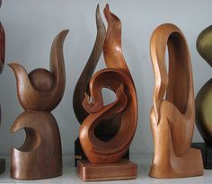 abstract sculptures: