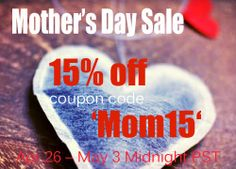 28da616df5f8 Mother s Day Sale Save 15% off with coupon code