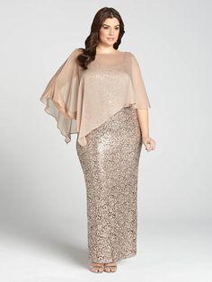 Laura Plus : pour femmes de taille 14 et plus. Pleine de grâce et de séduction, cette robe fera de vous la reine de la soirée. Avec son corps de dentelle parsemé de paillettes et voilé d'un charmant tissu translucide, voici une tenue époust...5010103-8565