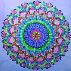 """The Tropical Bloom"", from Tropical World Coloring Book by @milliemarotta  #bloom #tropicalbloom #adultcoloringbook #adultcoloring #becreative #animalkingdom #reinoanimal #wildsavannah #paraisotropical #tropicalworld #tropicalwonderland #mandala #mandalaart #doodle #colorful #coloringbook #drawing #dotillism #livrodecolorir #mindfulness #stabilo #zendala #yoga #zen #zentangle"