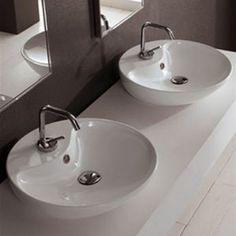 8098 shape 45 lavabo da appoggio bianco scarabeo