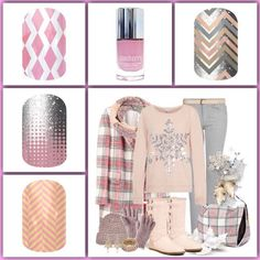 Jamberry pink fall winter outfit 2014/2015 Jamberry Nail Wraps: - Made in the USA - Can be used on Acrylic & Gel Nails - Won't damage your natural nails - No dry time!! - No harmful chemicals - No Chipping - No Smudging - Lasts up to 2 weeks or more on fingernails - Lasts up to 6 weeks on toenails - Over 300 AMAZING designs - Non-Toxic - Formaldehyde Free - Laytex Free - Gluten Free - Never Tested on Animals