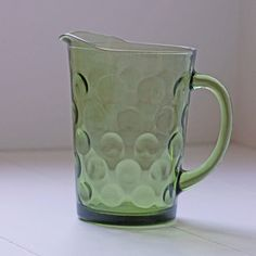 """Green Bubble Glass Pitcher now featured on Fab. - """"I think I still have Mom's>?"""""""
