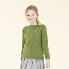 The Sublime Etoile Sweater - An easy hand knit for girls in Sublime Natural Aran spun in England.