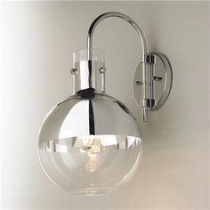 Mercury Glass Globe Sconce