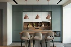Luxury Kitchen - Regardless of whether you're planning for a move to another house or you essentially need to a kitchen redesign, these astounding kitchen Minimalist But Luxurious Kitchen Design thoughts will prove to be useful. Luxury Kitchen Design, Kitchen Room Design, Best Kitchen Designs, Luxury Kitchens, Home Decor Kitchen, Rustic Kitchen, Interior Design Kitchen, Modern Interior Design, New Kitchen