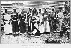 Women's secret society of Gabon.        ([c1912])