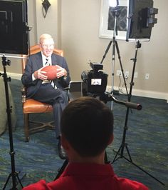 On-Location with Lou Holtz for a T.V. shoot. For more information head to: https://m3makeup.com/services/#film  @espndrlou #m3makeup #m3beauty #m3TV