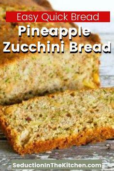Zucchini Pineapple Bread, Zucchini Bread Muffins, Zuchinni Bread, Easy Zucchini Bread, Best Zucchini Recipes, Chocolate Zucchini Bread, Quick Bread Recipes, Diabetic Zucchini Bread Recipe, Pastries