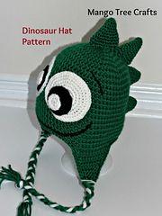 Ravelry: Friendly Dinosaur Crochet Hat Pattern pattern by Lilia Garashchenko