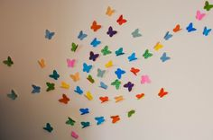 Wall decoration butterflies are very nice options to get creative. Because these are also paint so we can customize them to fullest using cheerful colors.