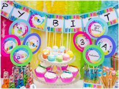 little Picasso art party! cute + colorful, perfect for kids.