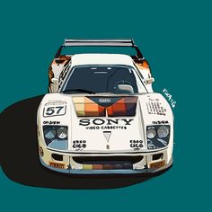 By @fikandco Ferrari F40, Fika, Free Clothes, Illustration, Sony, Drawings, Illustrations, Sketches, Drawing