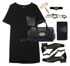"""""""Untitled #342"""" by lovelyeleanorstyle ❤ liked on Polyvore featuring rag & bone, Topshop, Zara, Mulberry, Tory Burch and Michael Kors"""