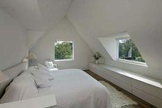 Schlafzimmer Cozy attic loft bedroom design & decor ideas Breathe Life into your old vanity Artic Attic Loft, Loft Room, Bedroom Loft, Home Bedroom, Attic Office, Attic Stairs, Basement Stairs, Basement Storage, Bedroom Modern