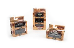 A new set of 1:64-scale die cast cars branded with the Lunati Bootlegger logo and featuring the camshaft series' unique wood-grain packaging is available exclusively at Walmart. http://www.gearheads4life.com/news/m2-machines-unveils-lunati-bootlegger-series-of-die-cast-vehicles/