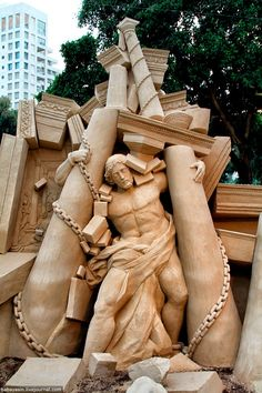 Sand Sculpture In Tel Aviv, Israel