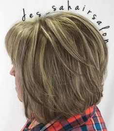 Layered Bronde Bob For Women Over 50