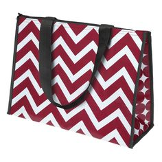 7e11c27b9e52 Chevron and polka dot print cooler tote with insulated lining – 18