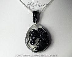 Equine Art by Malem Glass Artist Equine Art, Glass Jewelry, Glass Art, Sculptures, Horses, Pendant Necklace, Artist, Handmade, Painting