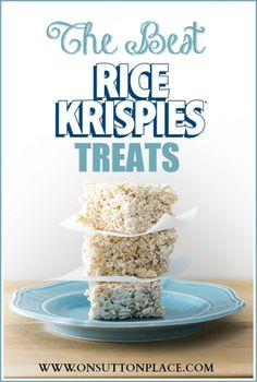 The Best Rice Krispies Treats Ever! 3 little tweaks to the original recipe make all the difference. You won't believe it until you give them a try!