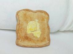 Fake food Toast magnet food magnet by HappyElephantArt on Etsy