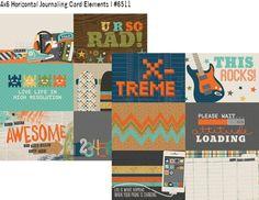 So Rad 12x12 Paper - 4x6 Horizontal Journaling Card Elements