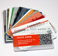 plastic business cards = rock n roll