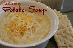 Creamy Potato Soup....Needing a warm easy soup recipe to add to your fall dinners?  This is it!!