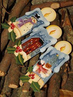 Christmas Picks, Christmas Crafts, Christmas Decorations, Xmas, Christmas Ornaments, Tole Painting, Painting On Wood, Wooden Crafts, Diy And Crafts