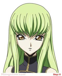 How to Draw C.C. from Code Geass step 11