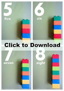 Lego Duplo Number Cards. (Numbers 0-10) Free printable plus 5 fun ways to use them.  #GaleriAkal Untuk berbagi ide dan kreasi seru si Kecil lainnya, yuk kunjungi website Galeri Akal di www.galeriakal.com Mam!