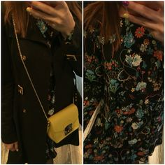 Flowers and bright colors for a Friday night dinner date #nafnaf #zara #hm #furla