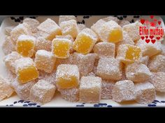 turkish delight recipe with orange Turkish Delight, Orange Recipes, Turkish Recipes, Crepes, Biscotti, Macedonia, Recipies, Candy, Cookies