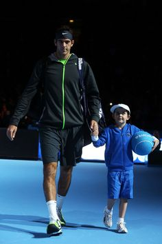 Juan Martin Del Potro Photos Photos - Juan Martin Del Potro of Argentina walks out onto court prior to  the men's singles match against David Ferrer of Spain on day two of the ATP World Tour Finals at the O2 Arena on November 6, 2012 in London, England. - ATP World Tour Finals - Day Two
