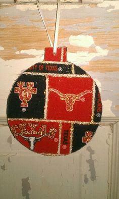 Texas Longhorn Christmas ornament