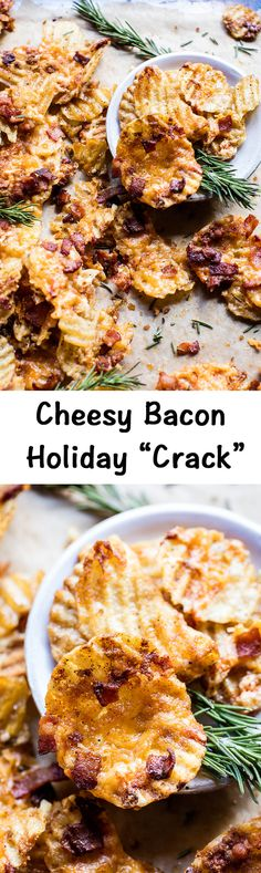 Cheesy Bacon Holiday Crack Korean bbq chips maybe? Yummy Appetizers, Appetizers For Party, Appetizer Recipes, Harvest Appetizers, Avacado Appetizers, Prociutto Appetizers, Elegant Appetizers, Mexican Appetizers, Halloween Appetizers