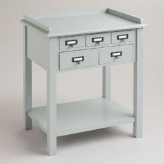 Printer stand? One of my favorite discoveries at WorldMarket.com: Gray 5-Drawer Preston Table