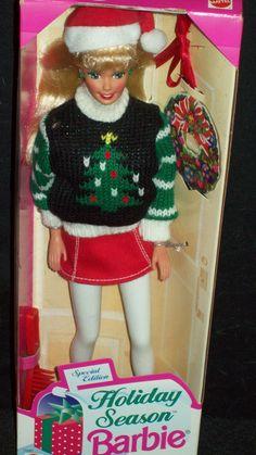 1996 Special Edition Holiday Season Barbie in Original Box! NRFB