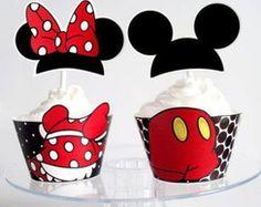 Wrapper E Topper Para Cupcakes Mickey